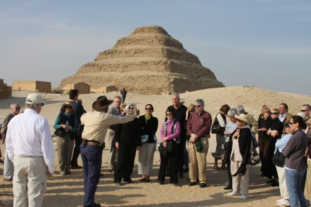 With our guide at Saqqara