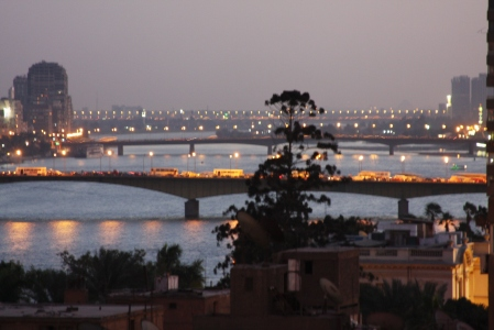 Cairo and the Nile at night