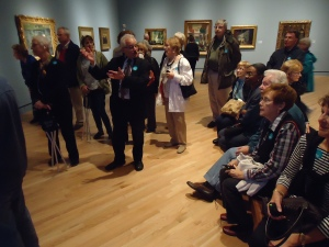 Touring the galleries with Professor Farrell at the Crystal Bridges Museum of American Art.