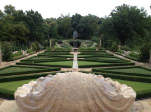 The Philbrook's gardens.
