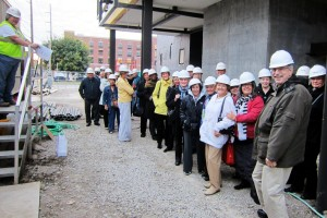 """Our """"Hard Hat Tour"""" of the Arts & Humanities Council of Tulsa's under-construction Hardesty Arts Center."""