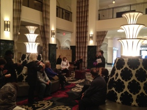 Our Tulsa architecture tour stops in at the lobby of the Mayo Hotel.