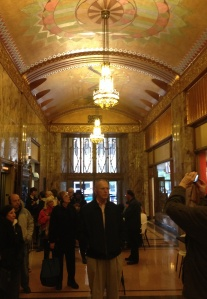 Inside Tulsa's Philcade Building.