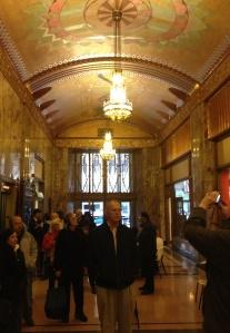 Inside Tulsa's Philcade Building.
