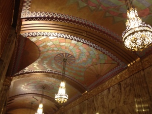 Ceiling detail in the Philcade.