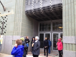 Another example of Tulsa's wonderful Art Deco architecture seen on our tour.