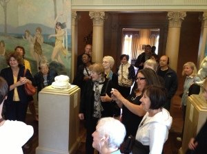 Touring the galleries at the Philbrook Museum of Art with Professor Farrell.