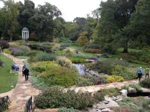 The Philbrook's gardens.