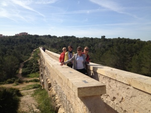 On a Roman acquaduct outside of Tarragona.
