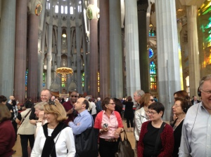 Inside Sagrada Familia.