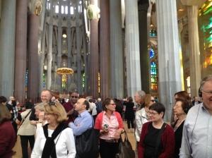 Inside Sagrada Familia.