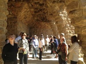 At Gaudi's Parc Guell.