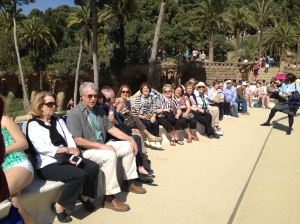 At Parc Guell.