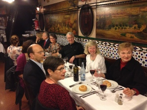 Our farewell dinner at Los Caracoles.