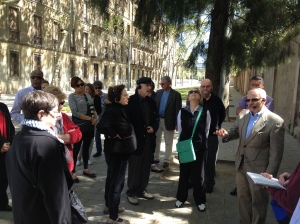 Our introductory tour of Barcelona with Professor Farrell.