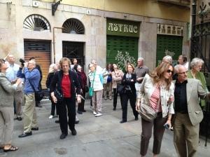 Outside the famous Els Quatre Gats cafe.