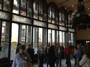 The intermission room of the Palau de la Musica Catalana.