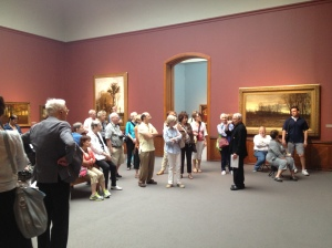 Touring the galleries of the PAFA