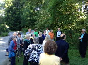 On the grounds of the Brandywine River Museum