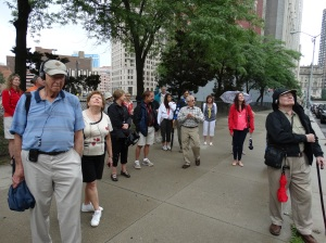 Viewing the buildings around Campus Martius.