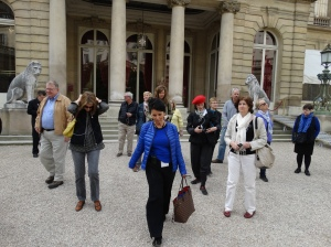 Leaving the Musée Jacquemart-André with our guide Christine leading the way.