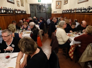 Our farewell dinner in a local trattoria before returning home the next day.