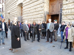 Outside the church of San Lorenzo.