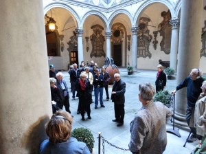 The courtyard of the Palazzo Riccardi Medici.