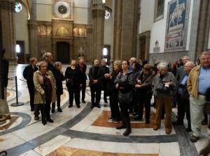 Inside Santa Maria del Fiore (the duomo).