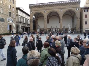 The Loggia dei Lanzi in the Piazza della Signoria.