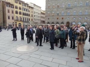 In the Piazza della Signoria.