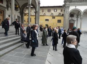In the Piazza della Santissima Annunziata.