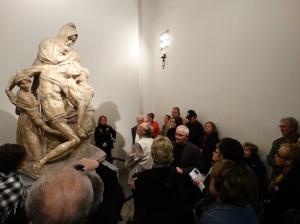 Michelangelo's Pieta in the Opera di Santa Maria del Fiore.