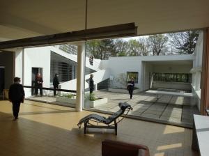 Inside Le Courbusier's Villa Savoye.