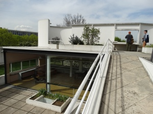 Roof terrace of Le Courbusier's Villa Savoye.
