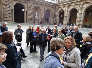 The courtyard of the Palazzo Pitti.