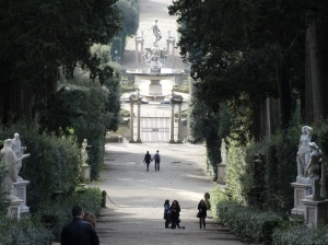The Boboli Gardens at Palazzo Pitti.