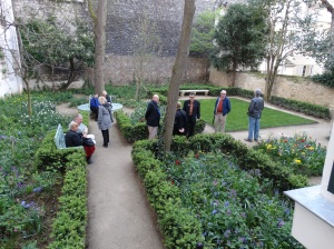 The garden at Delacroix's home and studio.