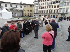 In Piazza di Santa Maria Novella.