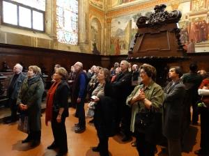 Behind the altar at Santa Maria Novella.