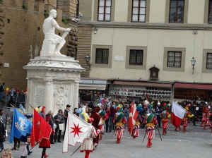 The procession continues through the streets of Florence.