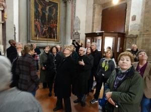 Inside Santa Maria del Carmine to view the Cappella Brancacci (Brancacci Chapel).