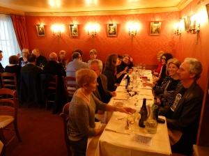 Our farewell dinner at the oldest restaurant in Paris the evening before returning home.