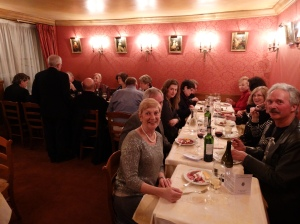 Our farewell dinner.