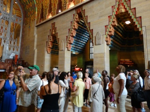 In the lobby of the Guardian Building
