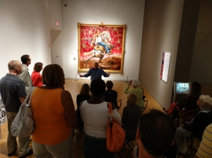 In the Contemporary Galleries, viewing the Kehinde Wiley