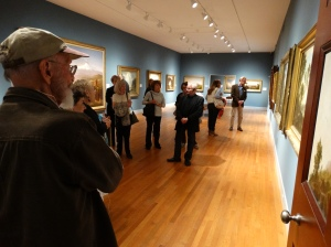 Touring the American galleries of the Wadsworth Atheneum with Professor Farrell.