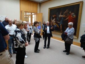 Touring the Yale Center for British Art.