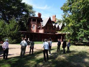 Outside the Mark Twain House.