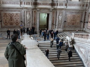 In the royal palace at Caserta